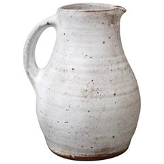 Midcentury French Ceramic Pitcher by Pierlot, circa 1960s