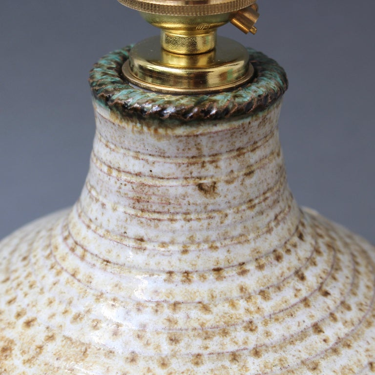 Midcentury French Ceramic Table Lamp by Marcel Giraud, circa 1960s For Sale 5
