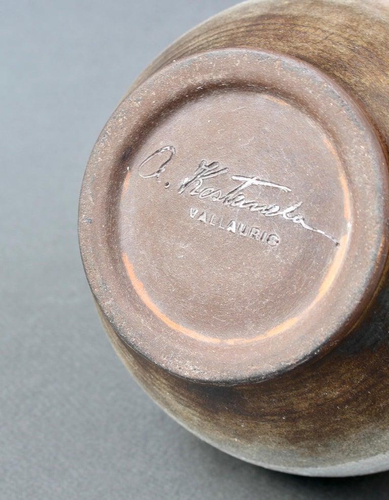 Midcentury French Ceramic Vase by Alexandre Kostanda, circa 1960s For Sale 6