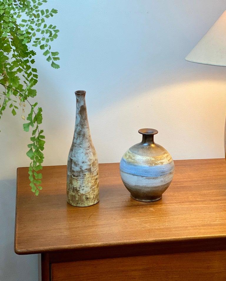 Mid-Century Modern Midcentury French Ceramic Vase by Alexandre Kostanda, circa 1960s For Sale