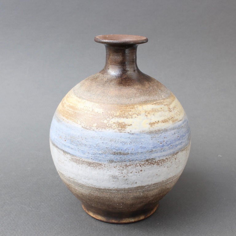 Mid-20th Century Midcentury French Ceramic Vase by Alexandre Kostanda, circa 1960s For Sale