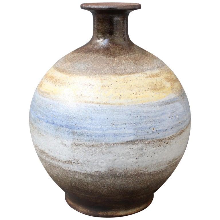 Midcentury French Ceramic Vase by Alexandre Kostanda, circa 1960s For Sale