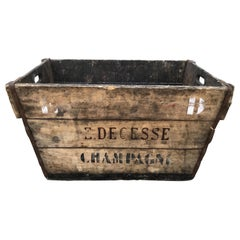 Mid-Century French Champagne Harvest Basket