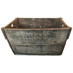 Midcentury French Champagne Harvest Basket