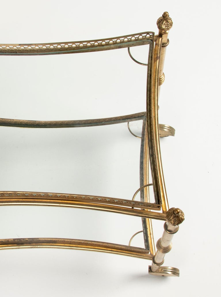Mid-Century French Copper Bar Cart Trolley For Sale 11