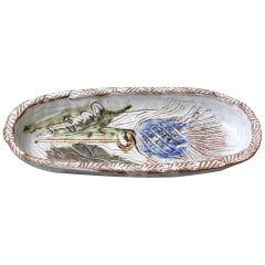 Mid-Century French Decorative Ceramic Dish / Vide-Poche by Albert Thiry c. 1960s