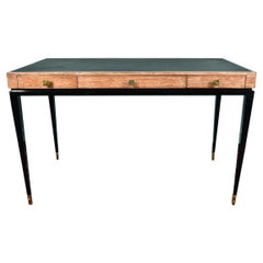 Midcentury French Desk in White Oakwood