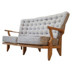 Midcentury French Guillerme et Chambron Sofa