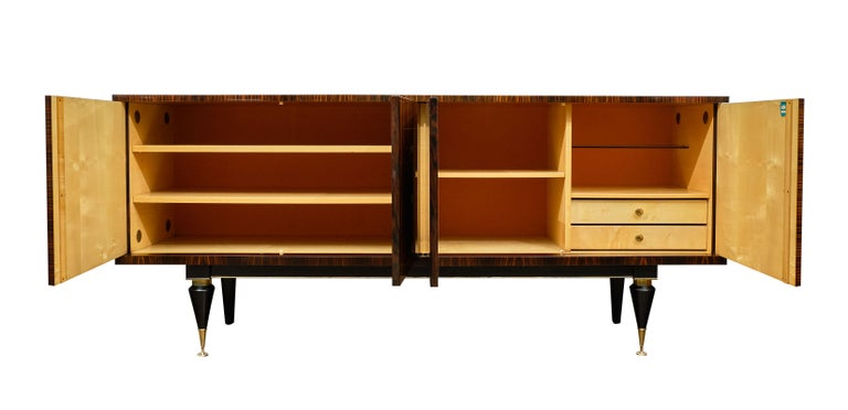 Midcentury French Macassar Buffet For Sale 2
