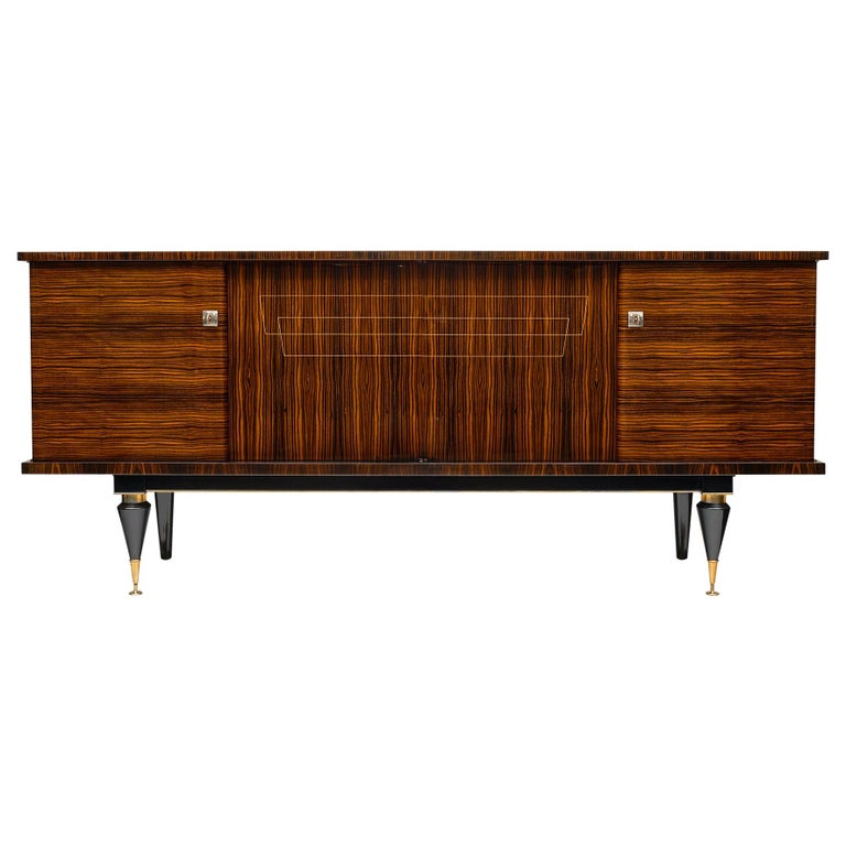 Midcentury French Macassar Buffet For Sale