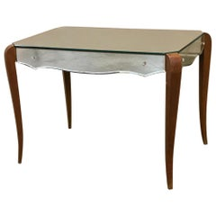 Midcentury French Mirrored Coffee Table