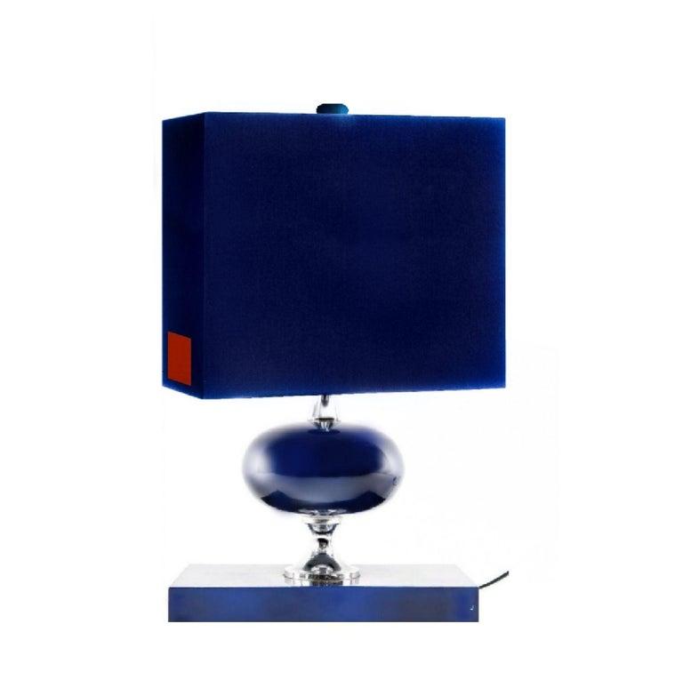 20th Century Midcentury French Modern Enameled Brass Geometric Lamp Pair, Maison Barbier For Sale