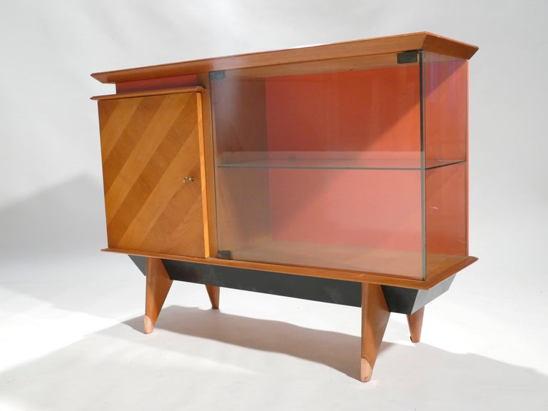 Mid-20th Century Midcentury French Modernist Cabinet Vaisselier, 1950s For Sale