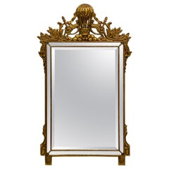 Midcentury French Napoleonic Themed Carved Giltwood Mirror