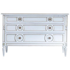 Midcentury French Neoclassical Painted Commode