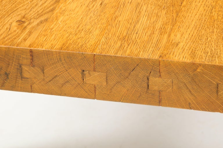 Midcentury French Oak Coffee Table For Sale 5
