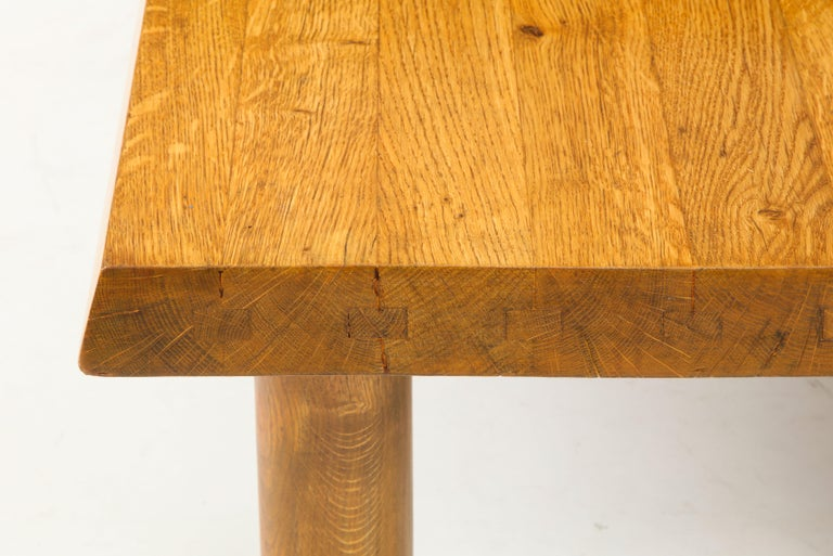 Midcentury French Oak Coffee Table For Sale 6