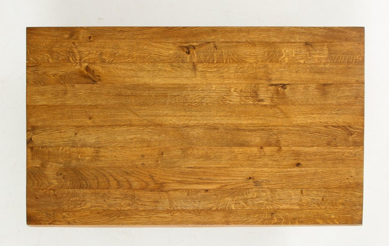 Midcentury French Oak Coffee Table For Sale 8