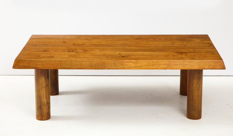 Mid-Century Modern Midcentury French Oak Coffee Table For Sale