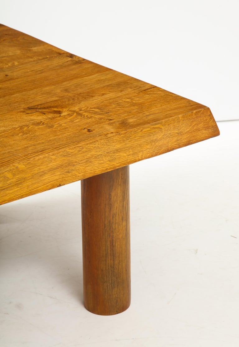 Midcentury French Oak Coffee Table For Sale 3