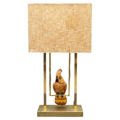 Mid Century French Parrot Lamp