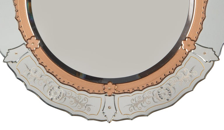Midcentury French Round Venetian Mirror, 1950s In Good Condition For Sale In Austin, TX
