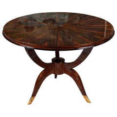 Mid-Century French Side Tables in Walnut