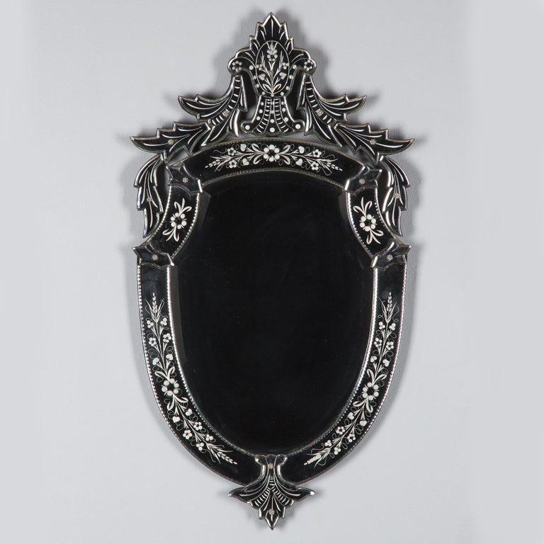 Midcentury French Venetian Glass Mirror For Sale 6