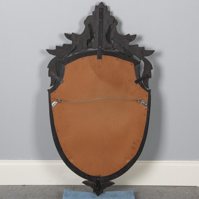 Midcentury French Venetian Glass Mirror For Sale 12