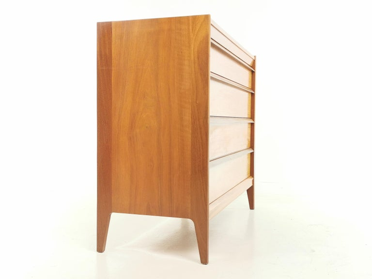 Midcentury French Walnut Chest of Drawers by John Herbert, 1960s For Sale 1
