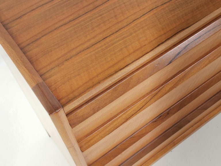 Midcentury French Walnut Chest of Drawers by John Herbert, 1960s For Sale 3