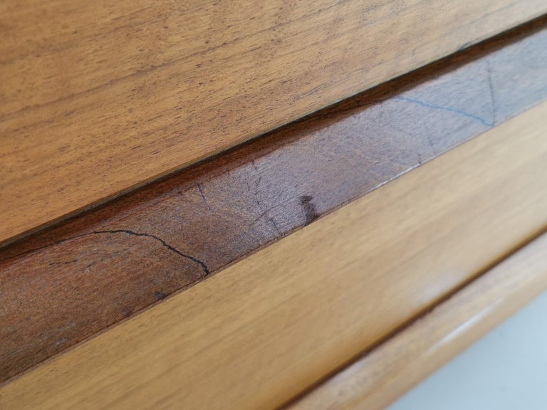 Midcentury French Walnut Chest of Drawers by John Herbert, 1960s For Sale 4