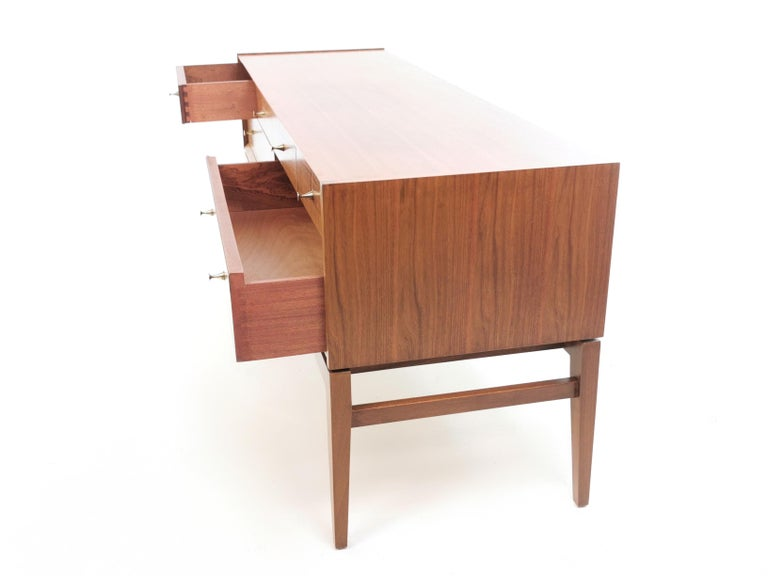 British Midcentury French Walnut Sideboard by John Herbert, 1960s For Sale