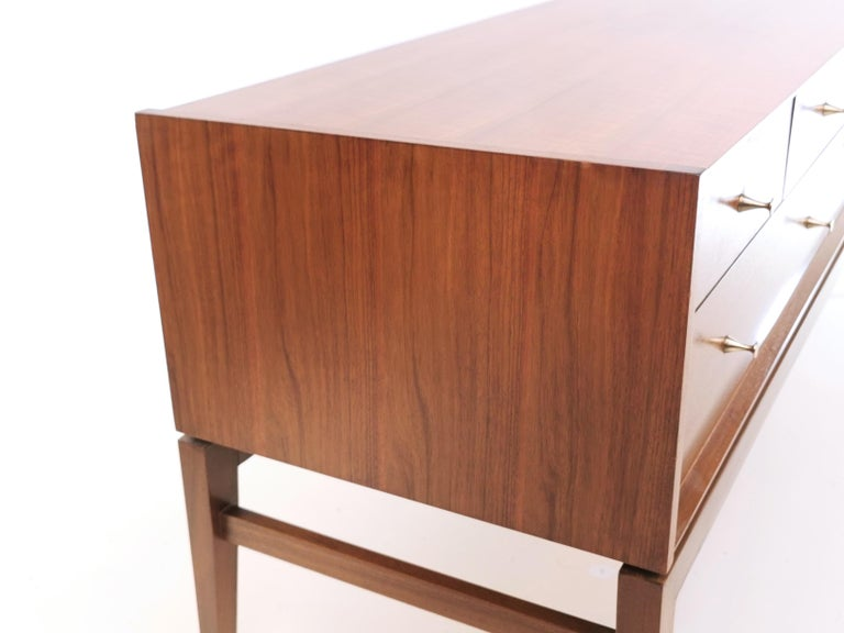 20th Century Midcentury French Walnut Sideboard by John Herbert, 1960s For Sale