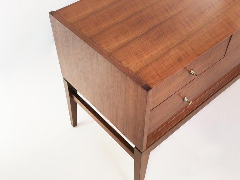 Midcentury French Walnut Sideboard by John Herbert, 1960s For Sale 1