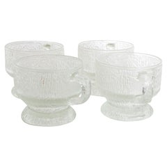 Midcentury Frosted Glassware Cups Tapio Wirkkala Ultima Thule Mugs IITTALA
