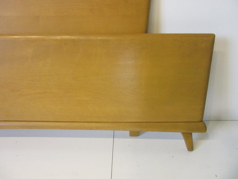 Wood Midcentury Full Sized Headboard, Trophy Suite by Heywood Wakefield For Sale
