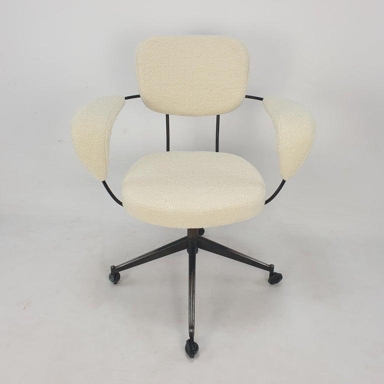 Woven Mid Century Gastone Rinaldi Swivel Armchair for RIMA, 1960's