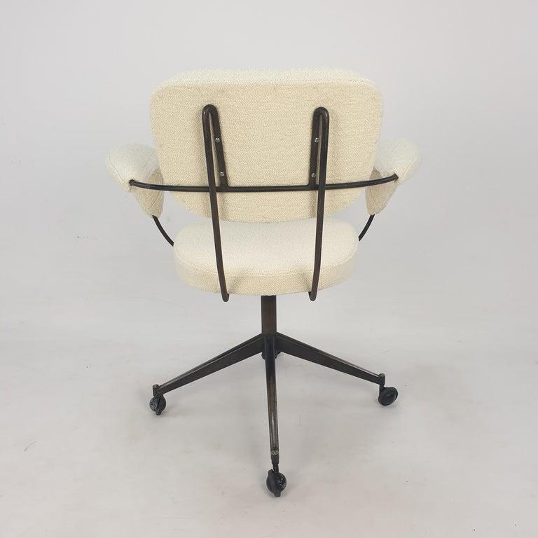 Steel Mid Century Gastone Rinaldi Swivel Armchair for RIMA, 1960's