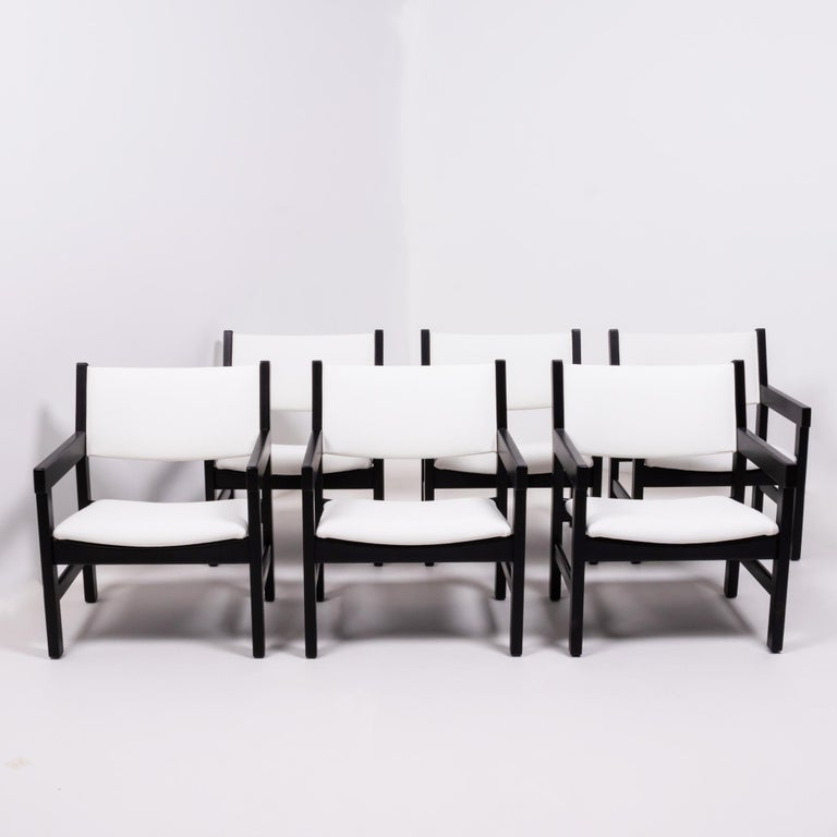 Mid-Century Modern Midcentury GE 151 Dining Chairs by Hans J. Wegner for GETAMA, Set of 6 For Sale