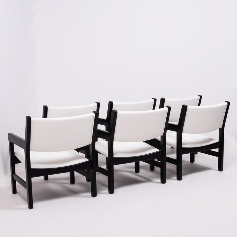 Danish Midcentury GE 151 Dining Chairs by Hans J. Wegner for GETAMA, Set of 6 For Sale