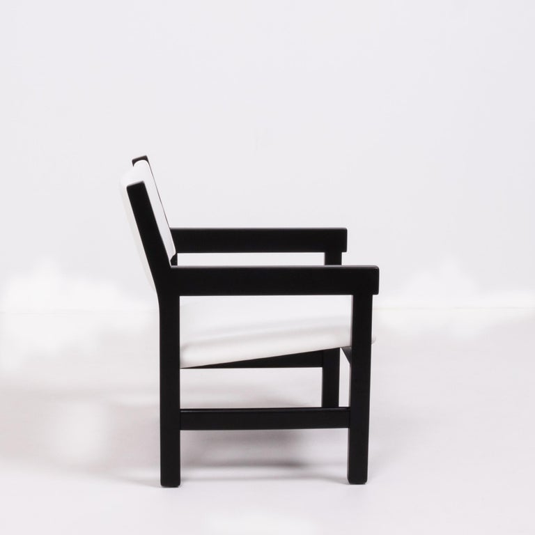 Faux Leather Midcentury GE 151 Dining Chairs by Hans J. Wegner for GETAMA, Set of 6 For Sale