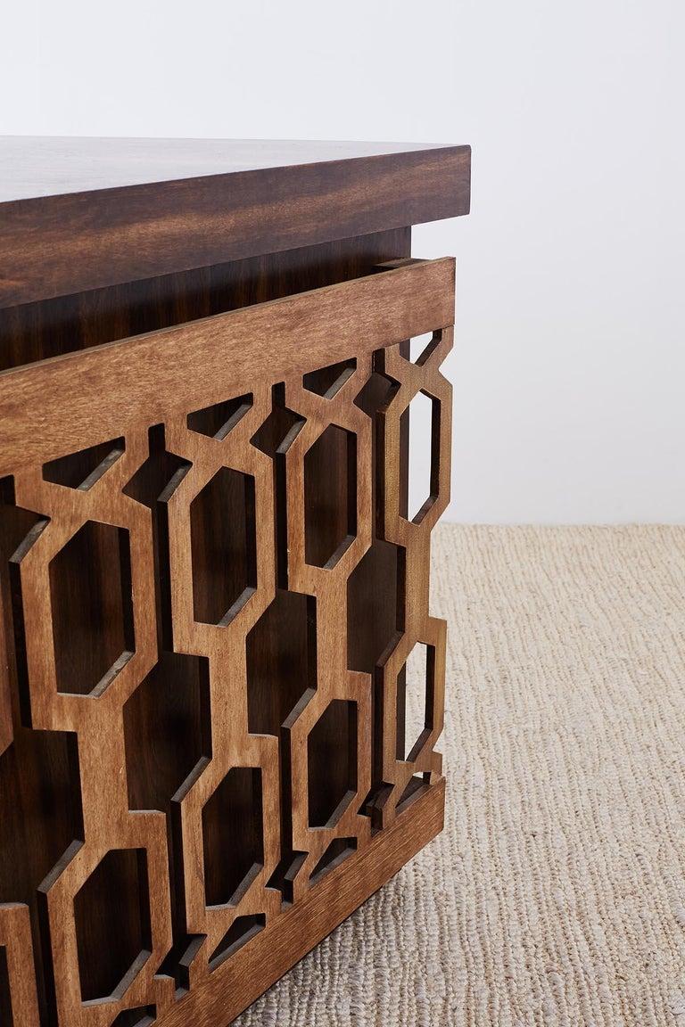 Midcentury Geometric Johnny Carson Style Desk For Sale 4