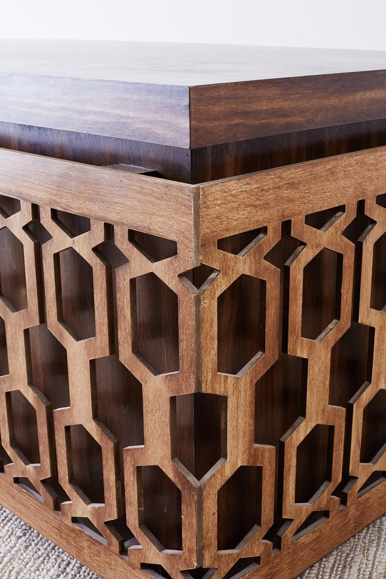 Midcentury Geometric Johnny Carson Style Desk For Sale 6