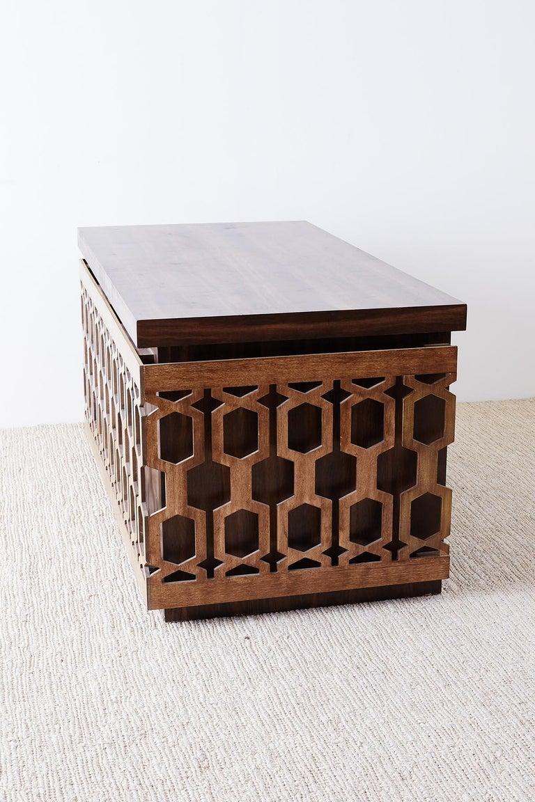 Midcentury Geometric Johnny Carson Style Desk For Sale 8