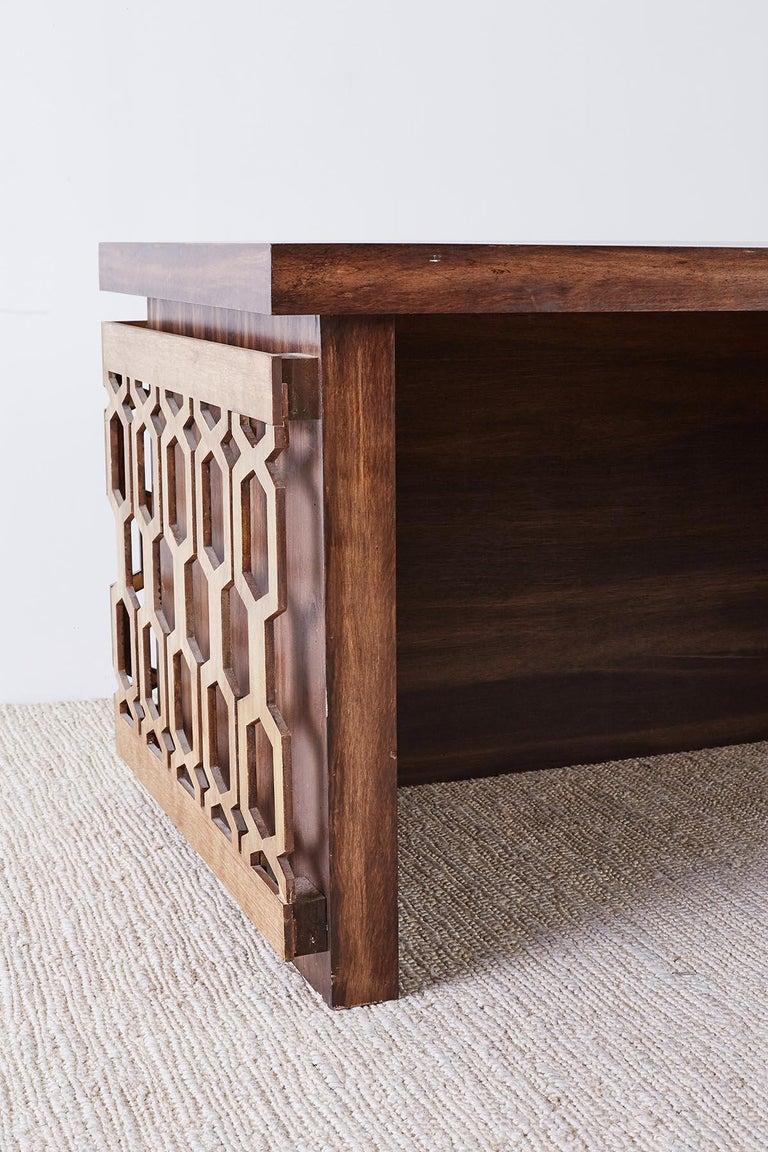 Midcentury Geometric Johnny Carson Style Desk For Sale 9