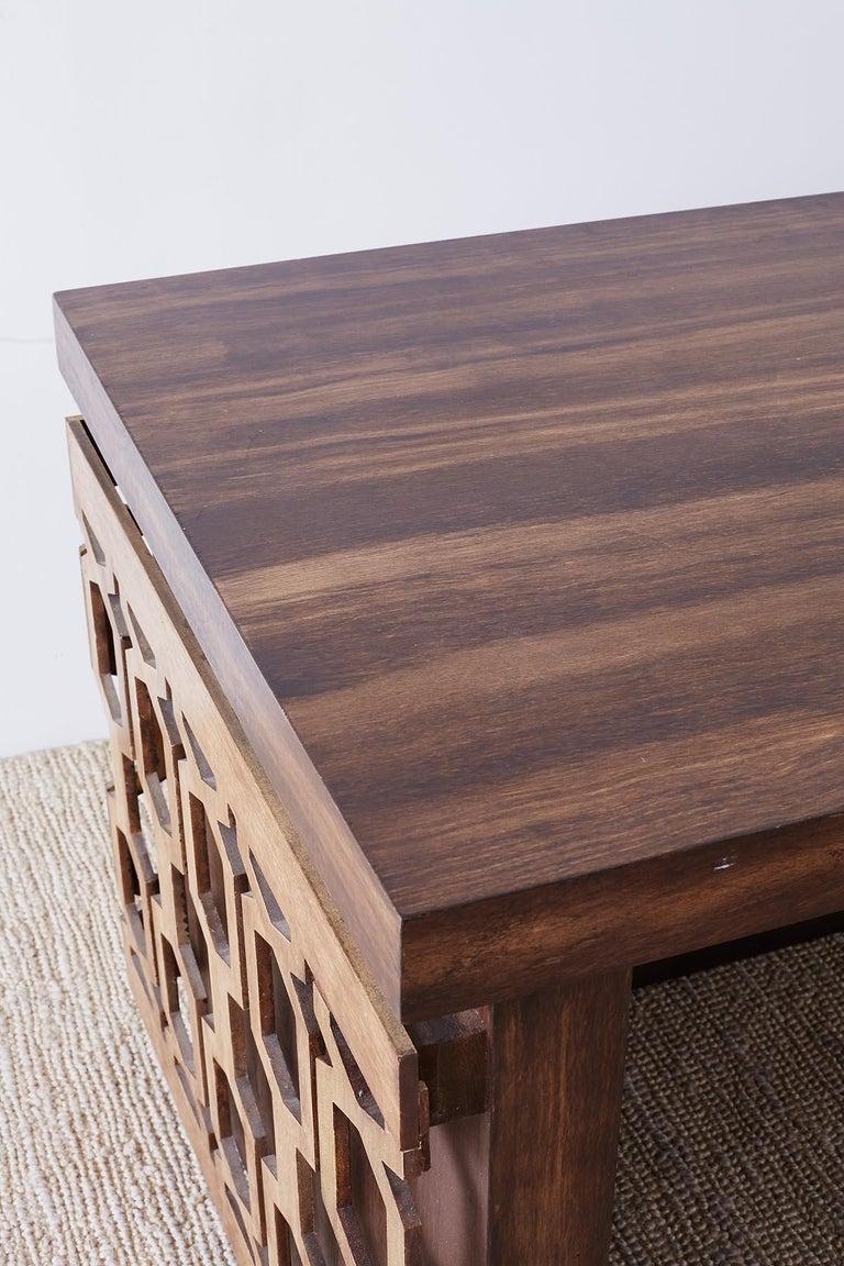 Midcentury Geometric Johnny Carson Style Desk For Sale 10