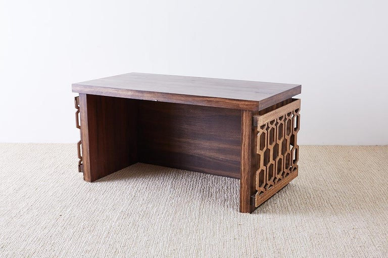 Midcentury Geometric Johnny Carson Style Desk For Sale 12