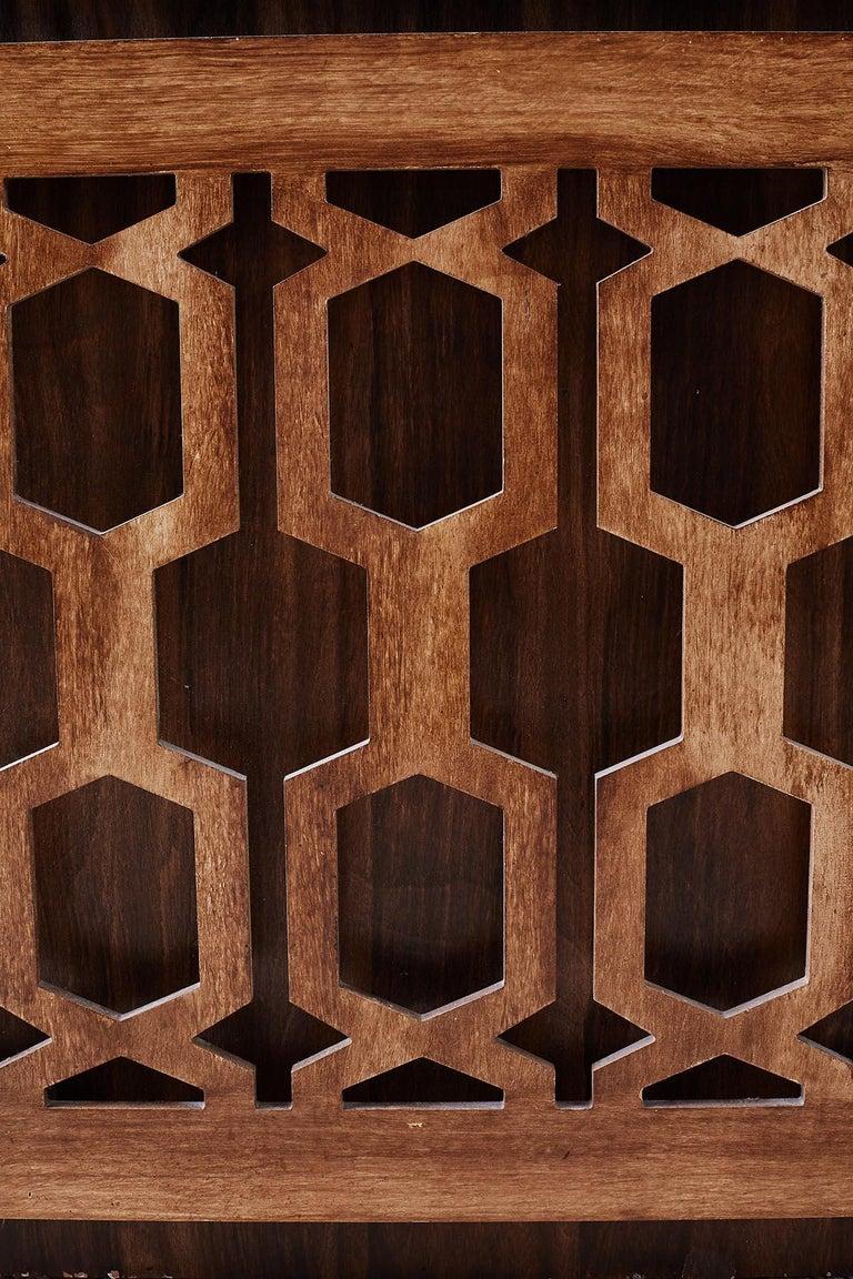 20th Century Midcentury Geometric Johnny Carson Style Desk For Sale