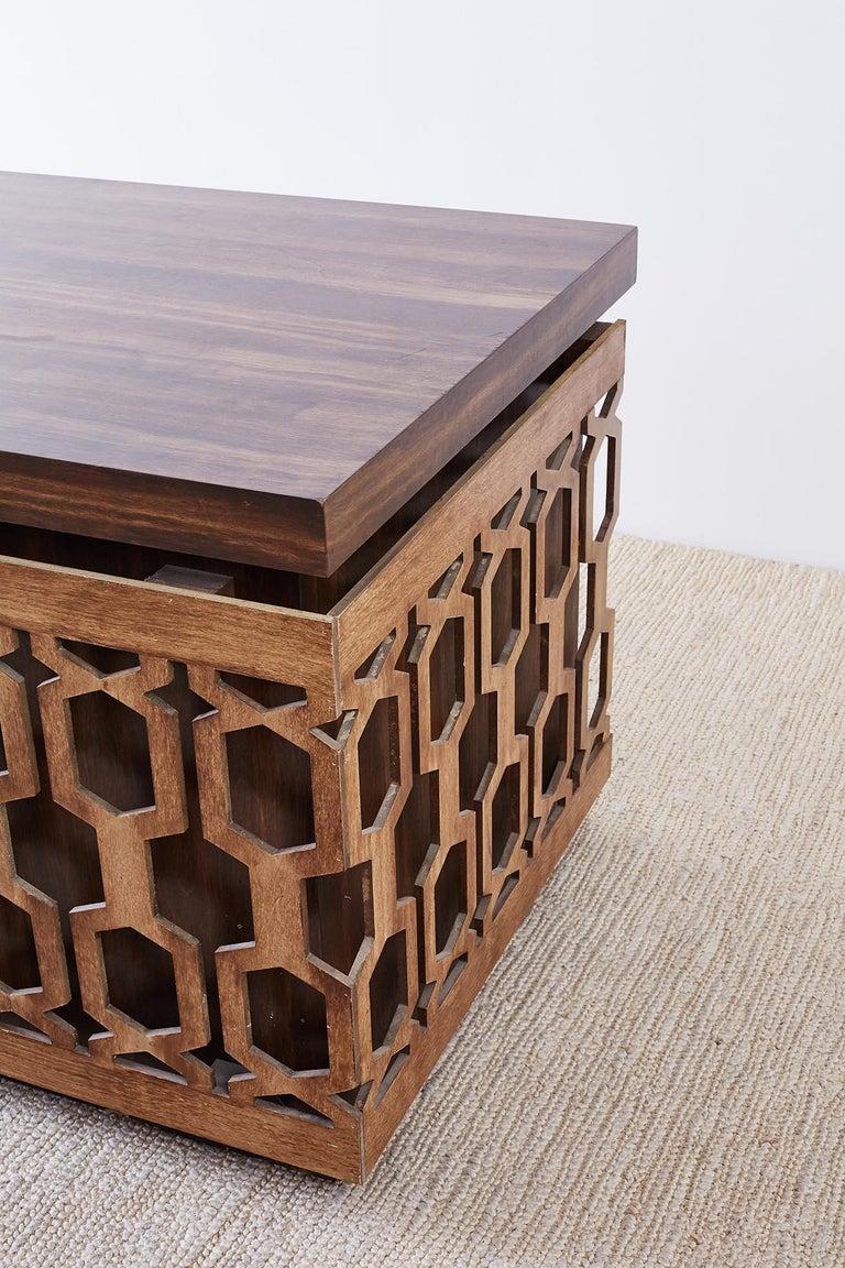 Midcentury Geometric Johnny Carson Style Desk For Sale 1